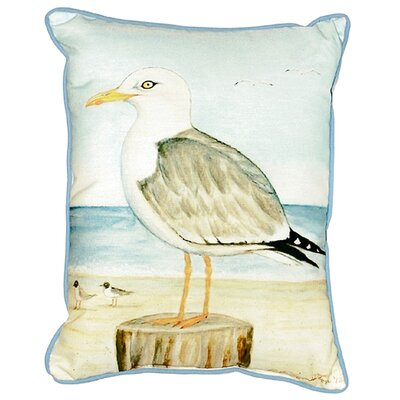 Seagull Indoor/Outdoor Lumbar Pillow