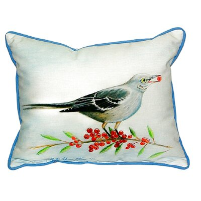 Mockingbird and Berries Indoor/Outdoor Lumbar Pillow Size: Large