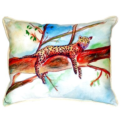Leopard Indoor/Outdoor Lumbar Pillow Size: Large