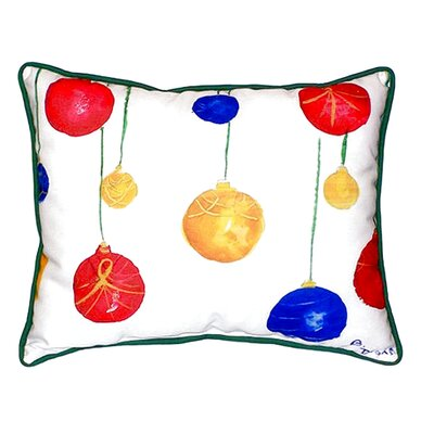 Christmas Ornaments Indoor/Outdoor Lumbar Pillow