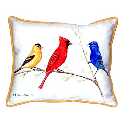 Three Birds Indoor/Outdoor Lumbar Pillow