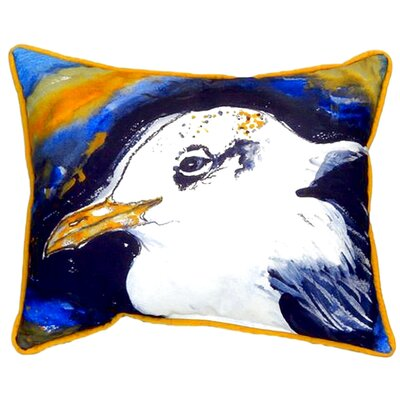 Gull Portrait Left 24 Indoor/Outdoor Lumbar Pillow