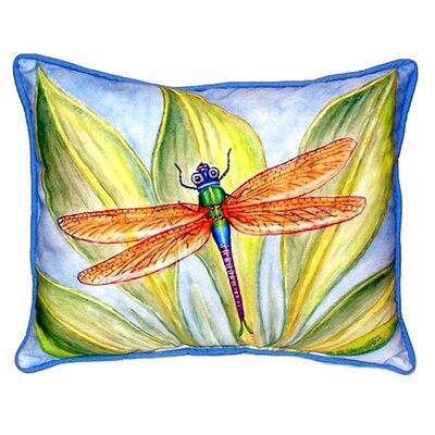Dicks Dragonfly Indoor/Outdoor Lumbar Pillow Size: Small
