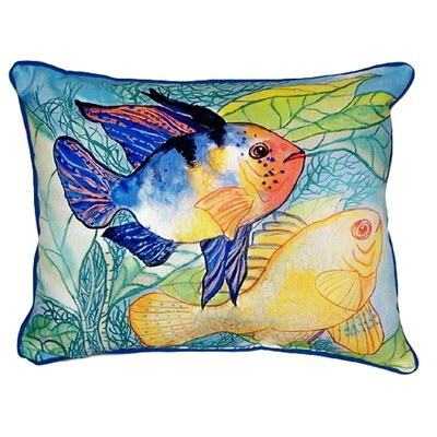 Two Fish Indoor/Outdoor Lumbar Pillow