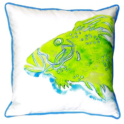 Fish Indoor/Outdoor Throw Pillow Size: Large