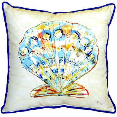 Scallop 22 Indoor/Outdoor Throw Pillow