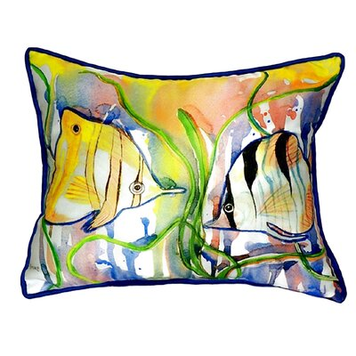 Angel Fish Indoor/Outdoor Lumbar Pillow Size: Large