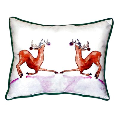 Dancing Deer Indoor/Outdoor Lumbar Pillow