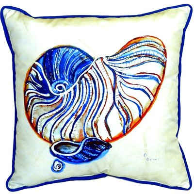 Nautilus Indoor/Outdoor Throw Pillow Size: 18 H x 18 W
