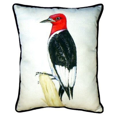 Redheaded Woodpecker 24 Indoor/Outdoor Lumbar Pillow