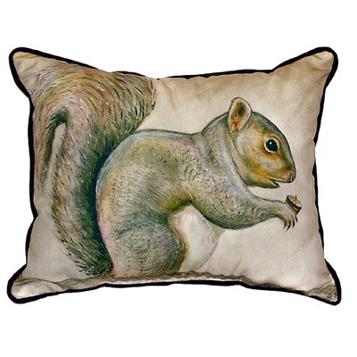 Squirrel Indoor/Outdoor Lumbar Pillow