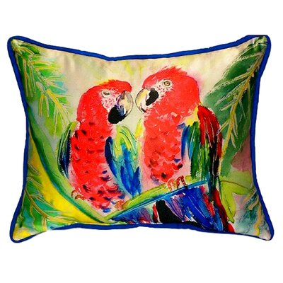 Two Parrots Indoor/Outdoor Lumbar Pillow Size: Large