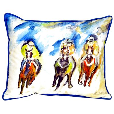 Three Racing Indoor/Outdoor Lumbar Pillow Size: Small