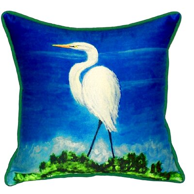 Great Egret Indoor/Outdoor Throw Pillow