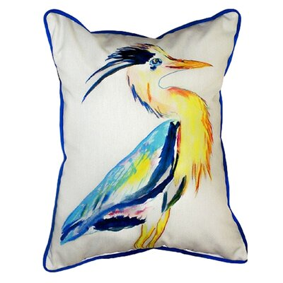 Vertical Heron Indoor/Outdoor Lumbar Pillow Size: Small