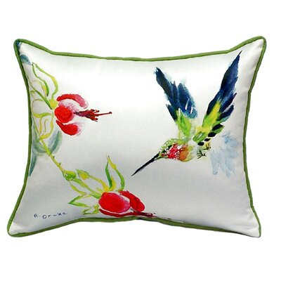 Hummingbird Indoor/Outdoor Lumbar Pillow Size: Large
