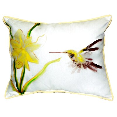 Hummingbird Indoor/Outdoor Lumbar Pillow Size: Small