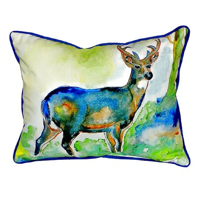 Deer Indoor/Outdoor Lumbar Pillow