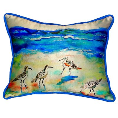 Sandpipers Indoor/Outdoor Lumbar Pillow Size: Large