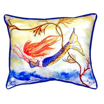 Diving Mermaid Indoor/Outdoor Lumbar Pillow Size: Large