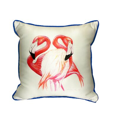 Two Flamingos Indoor/Outdoor Throw Pillow Size: Small
