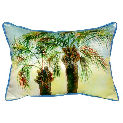 Palms Indoor/Outdoor Lumbar Pillow Size: Large