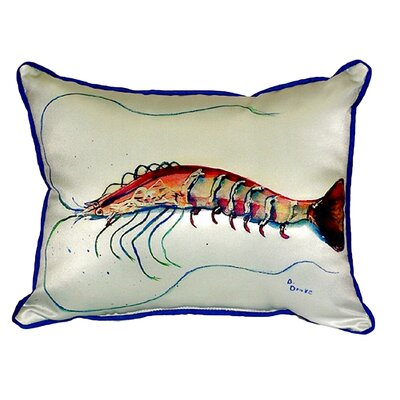 Shrimp Indoor/Outdoor Lumbar Pillow