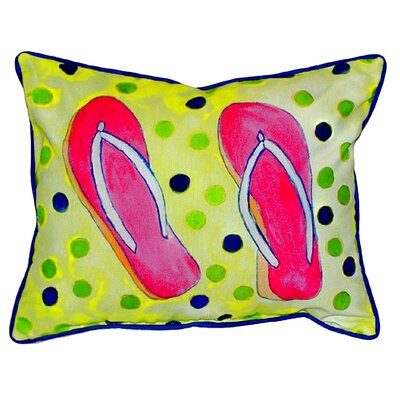 Flip Flops Indoor/Outdoor Lumbar Pillow