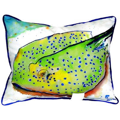 Coastal Stingray Indoor/Outdoor Lumbar Pillow