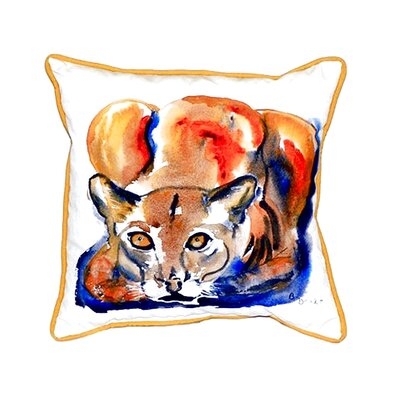 Cougar Indoor/Outdoor Throw Pillow