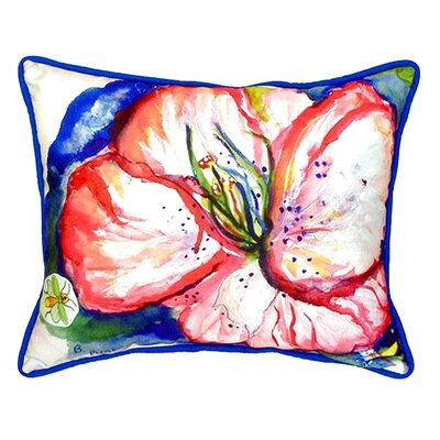 Hibiscus Indoor/Outdoor Lumbar Pillow Size: Small