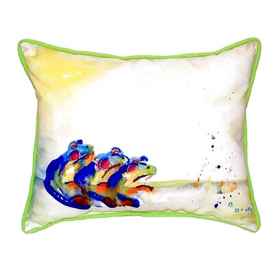Three Frogs Indoor/Outdoor Lumbar Pillow