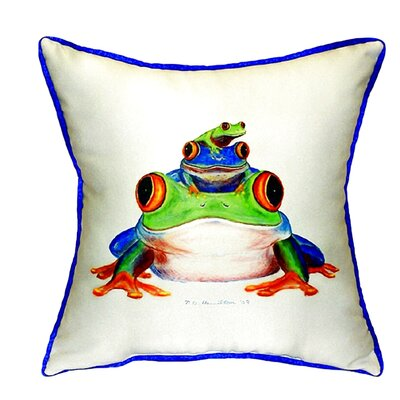 Stacked Frogs Indoor/Outdoor Throw Pillow Size: Large