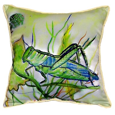 Grasshopper Indoor/Outdoor Throw Pillow Size: Large