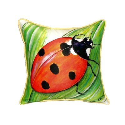 Ladybug Indoor/Outdoor Throw Pillow Size: Small