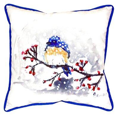 Bird and Snow Indoor/Outdoor Throw Pillow