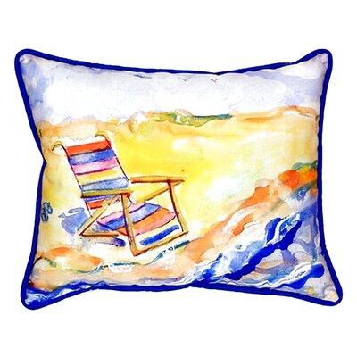 Chair On Beach Indoor/Outdoor Lumbar Pillow
