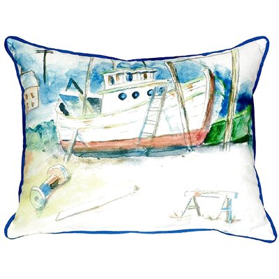 Old Boat Indoor/Outdoor Lumbar Pillow Size: Large