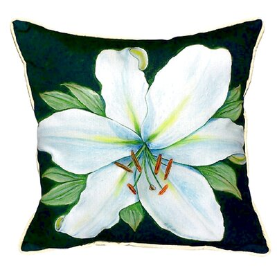 Garden Casablanca Lily Indoor/Outdoor Throw Pillow