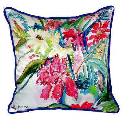 Multi Florals Indoor/Outdoor Throw Pillow Size: Small