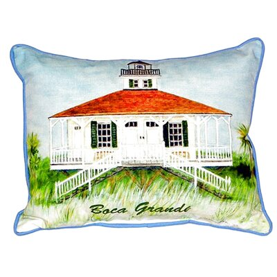 Boca Grande Lighthouse Indoor/Outdoor Lumbar Pillow Size: Large