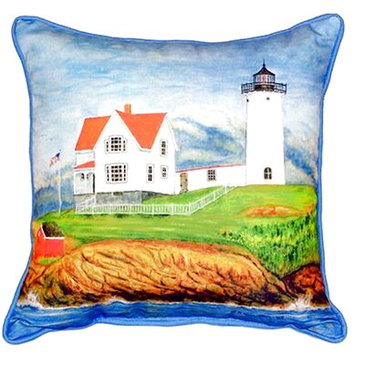 Nubble Lighthouse Indoor/Outdoor Lumbar Pillow Size: Large