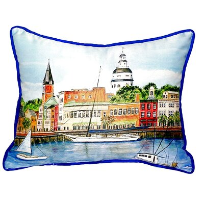 Annapolis City Dock Indoor/Outdoor Lumbar Pillow Size: Large
