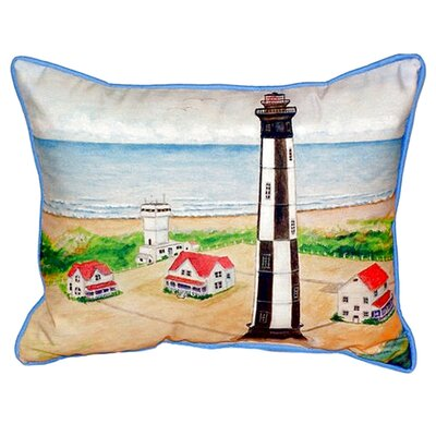 Cape Henry Lighthouse Indoor/Outdoor Lumbar Pillow Size: Large