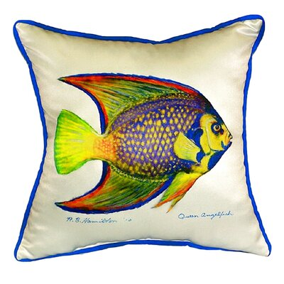 Queen Angelfish Indoor/Outdoor Throw Pillow Size: Small