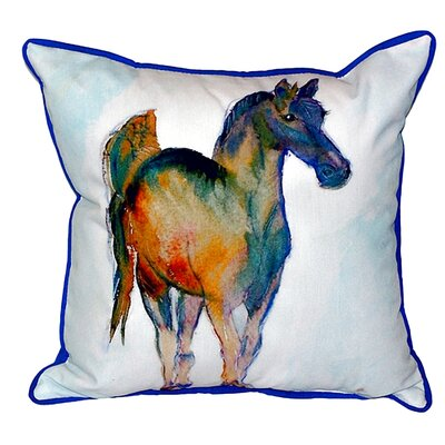 Colt Indoor/Outdoor Throw Pillow Size: Small