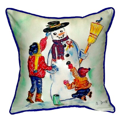 Snowman Indoor/Outdoor Throw Pillow