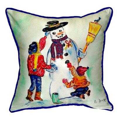 Snowman Indoor/Outdoor Throw Pillow