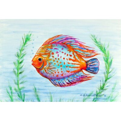 Orange Fish Doormat Mat Size: Rectangle 16 x 22