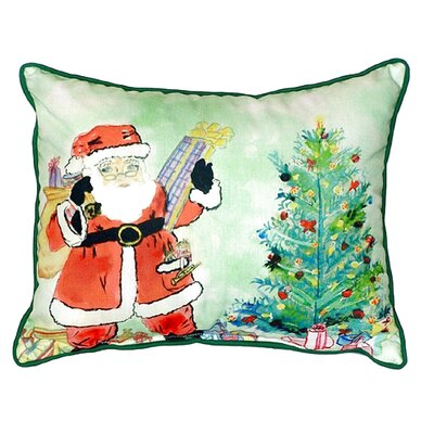 Santa and Tree Indoor/Outdoor Lumbar Pillow Size: Small